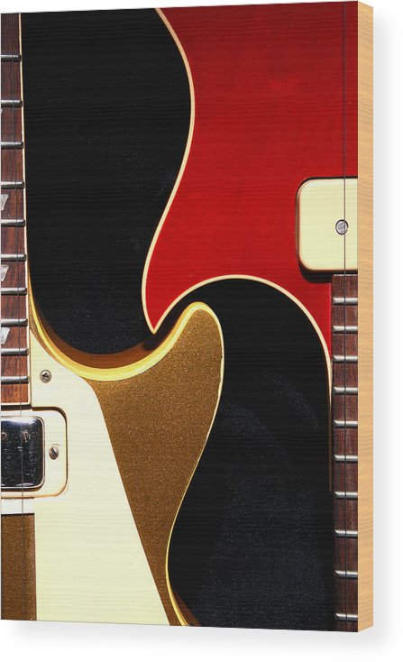 Guitar Wood Print featuring the photograph 2lp 1 by Art Ferrier