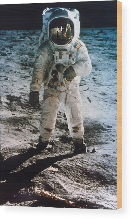 1969 Wood Print featuring the photograph Apollo 11 Buzz Aldrin by Granger
