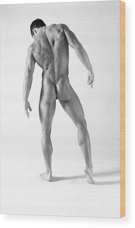 Male Wood Print featuring the photograph Back A by Dan Nelson