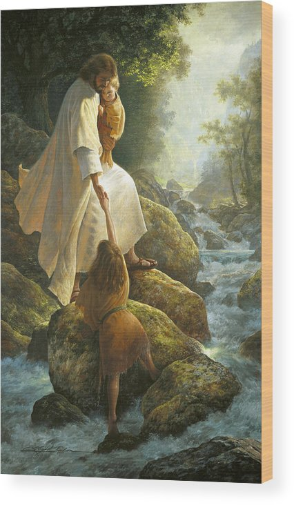 Jesus Wood Print featuring the painting Be Not Afraid by Greg Olsen