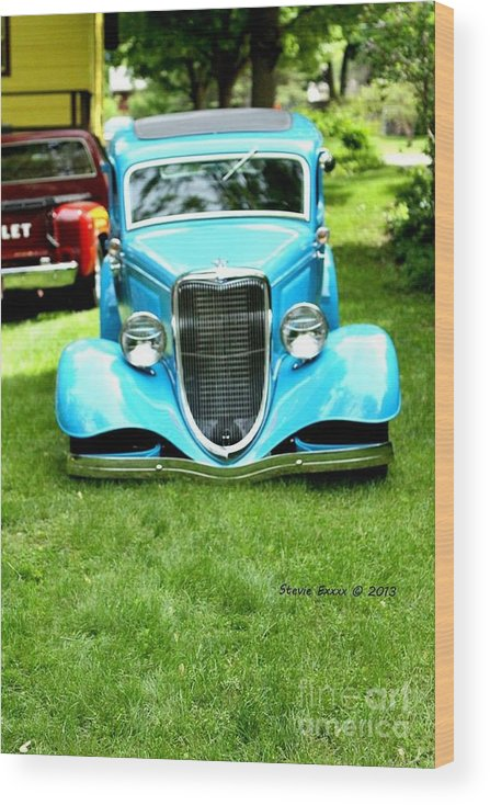 Classic Vintage Auto Automobile Car Life Photograph Collect Collection Wood Print featuring the photograph Beyond Classic. by Stevie Ellis