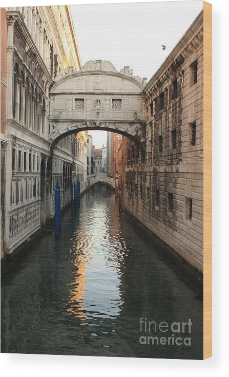 Venice Wood Print featuring the photograph Bridge of Sighs in Venice in Morning Light by Michael Henderson
