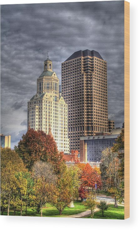 Wood Print featuring the photograph Bushnell Park Hartford by Sam Turgeon