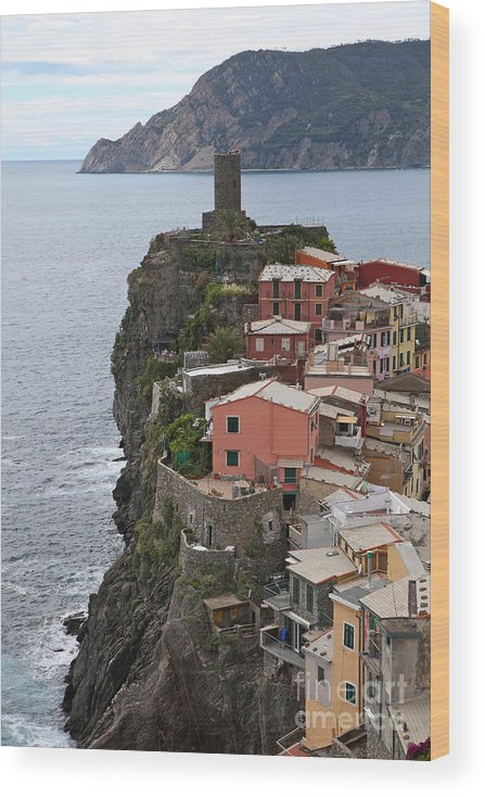 Italy Wood Print featuring the photograph Cinque Terre by Nadine Rippelmeyer