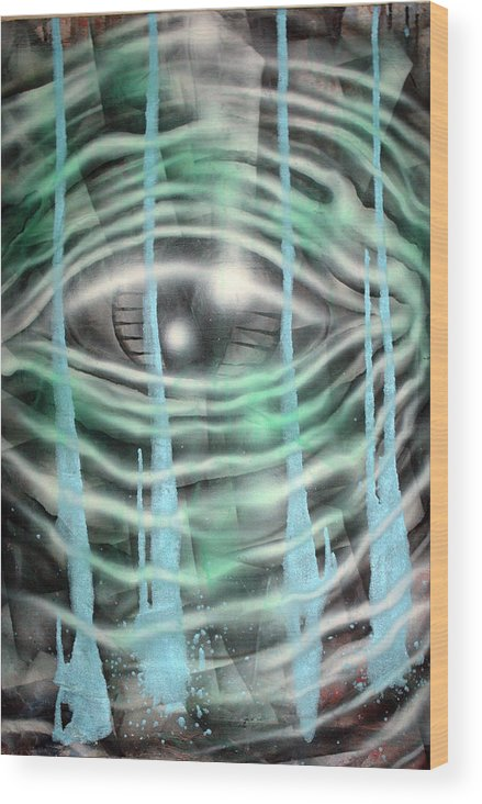 Surreal Wood Print featuring the painting Eye Knew by Leigh Odom
