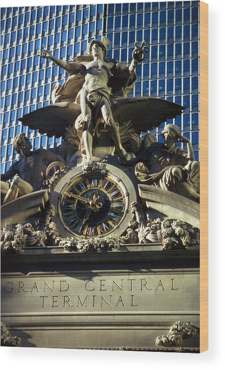 Train Wood Print featuring the photograph Grand Central Station by Carl Purcell