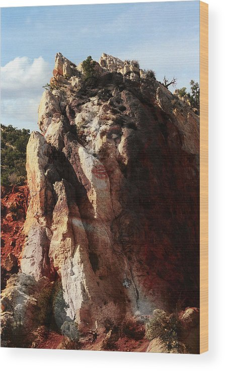 Kodachrome Basin Wood Print featuring the photograph Kodachrome Nymph by Richard Henne