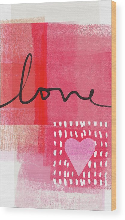 Love Wood Print featuring the mixed media Love Notes- Art by Linda Woods by Linda Woods