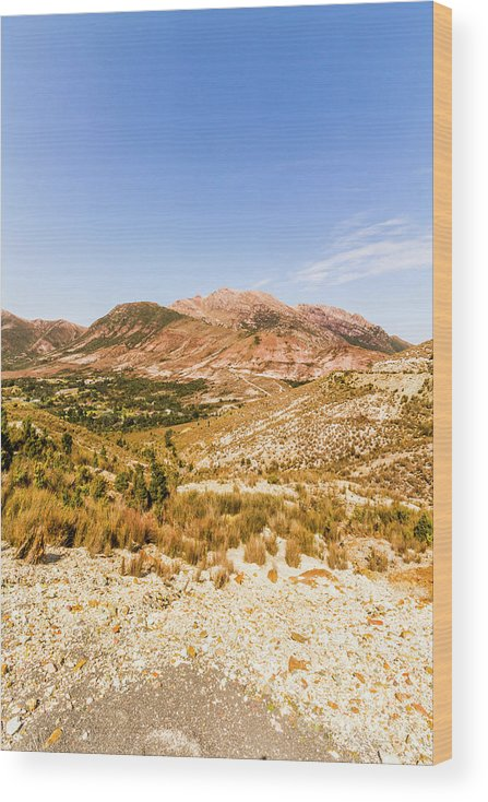 Australian Wood Print featuring the photograph Majestic arid peaks by Jorgo Photography - Wall Art Gallery