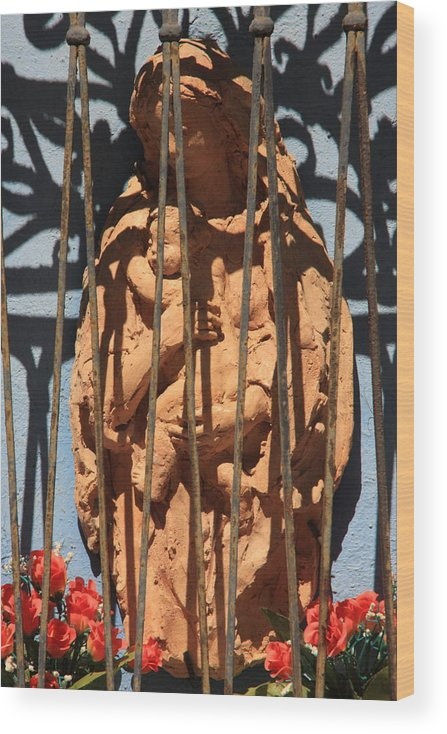 Venice Wood Print featuring the photograph Mary Shrine in Venice by Michael Henderson