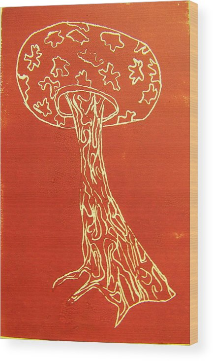 Organic Wood Print featuring the painting Myxomycetes 4 by Angela Dickerson