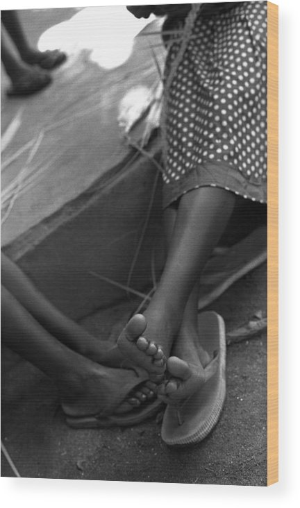 Rwanda Wood Print featuring the photograph Orphan Feet by Marcus Best