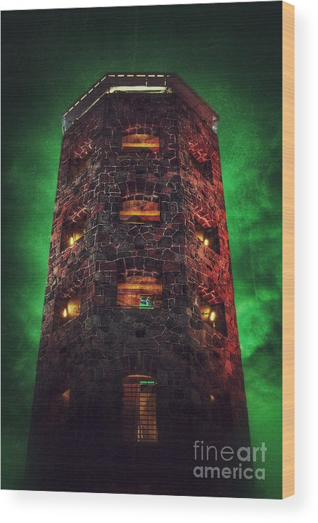 Duluth Wood Print featuring the photograph Otherworldly Enger Tower by Ever-Curious Photography