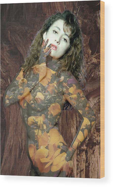 Model Wood Print featuring the photograph Painted Lady by Richard Henne