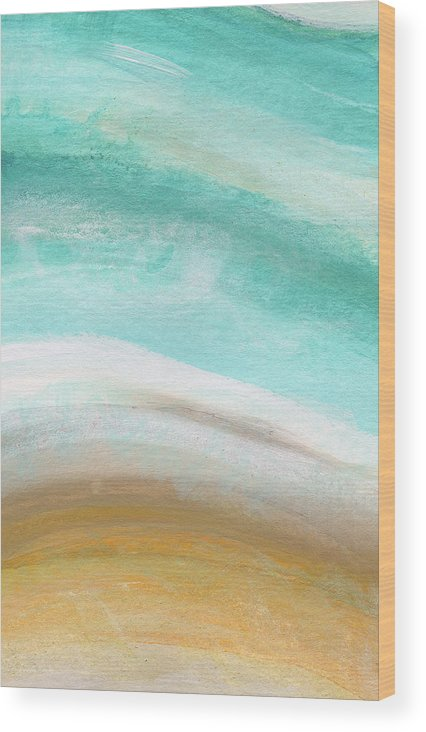 Beach Wood Print featuring the painting Sand and Saltwater- Abstract Art by Linda Woods by Linda Woods