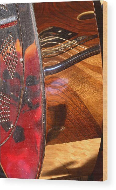 Guitar Wood Print featuring the photograph Steel and Wood 2 by Art Ferrier