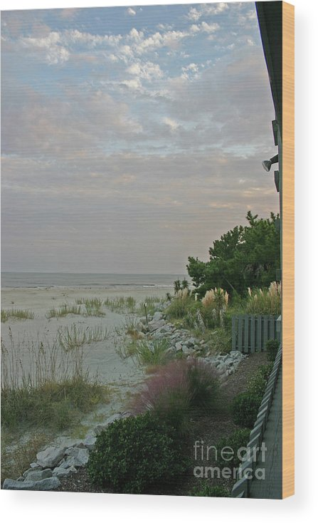 Sunset Wood Print featuring the photograph Subtle Colors at Sunset by Beebe Barksdale-Bruner