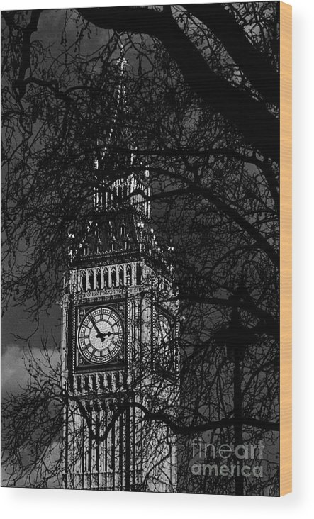 The Big Ben Wood Print featuring the photograph The Big Ben by Aldo Cervato