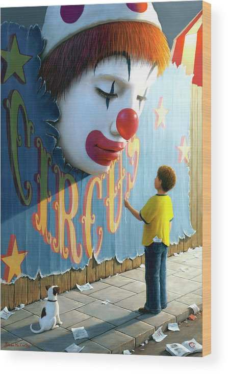 Birthday Card Wood Print featuring the painting The Big Top by Brian McCarthy