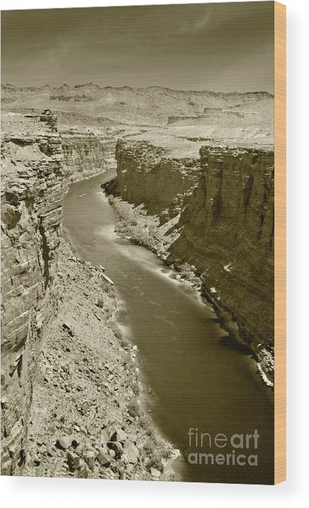 Colorado Wood Print featuring the photograph The Colorado River by Pete Hellmann