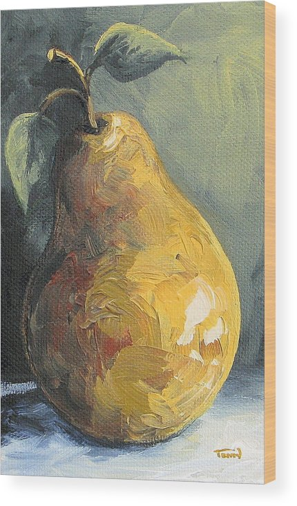 Pear Wood Print featuring the painting The Pear Chronicles 014 by Torrie Smiley