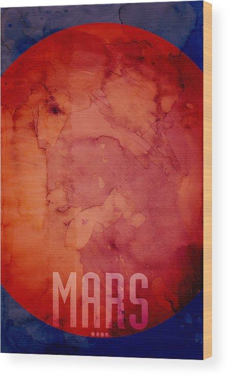 Mars Wood Print featuring the digital art The Planet Mars by Michael Tompsett