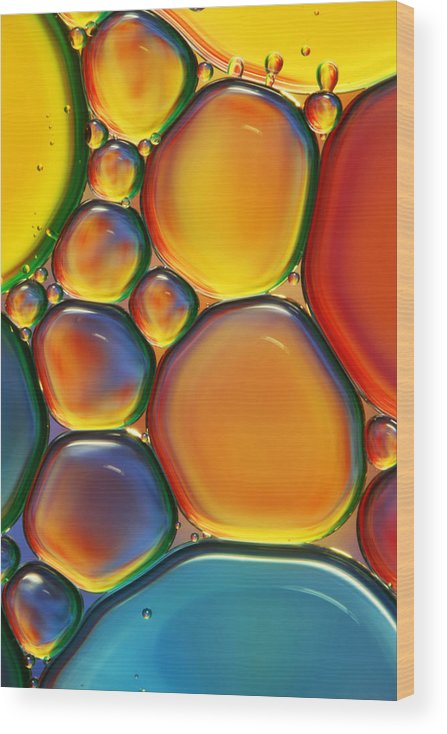 Oil Wood Print featuring the photograph Tropical Oil and Water II by Sharon Johnstone