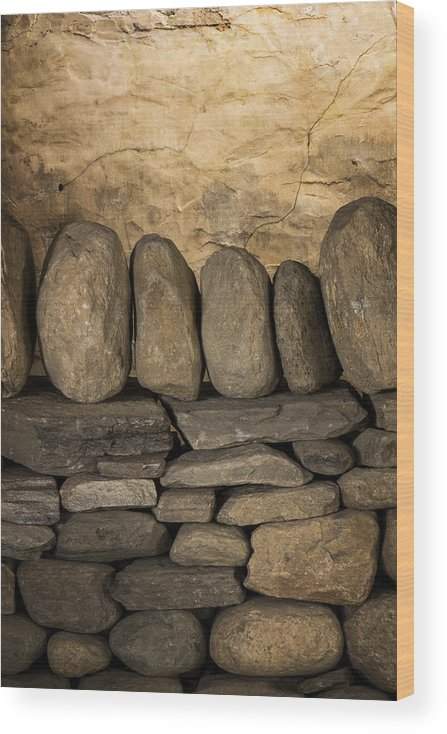 Scott Farm Vermont Wood Print featuring the photograph Vermont Rock Wall by Tom Singleton
