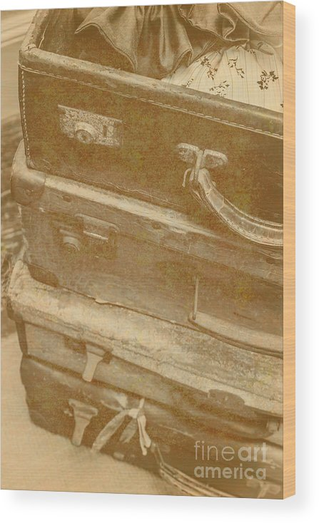 Travel Wood Print featuring the photograph Vintage Travel Stack by Jorgo Photography - Wall Art Gallery