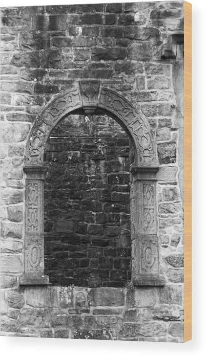 Irish Wood Print featuring the photograph Window at Donegal Castle Ireland by Teresa Mucha