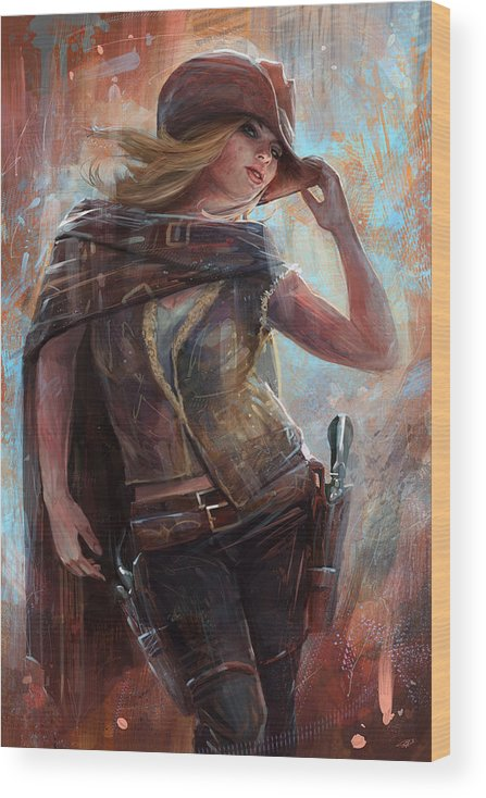 Pop Culture Wood Print featuring the digital art Woman With No Name by Steve Goad