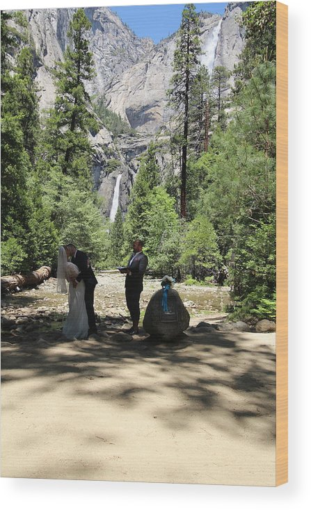 Wood Print featuring the painting Yosemite Wedding by Travis Day
