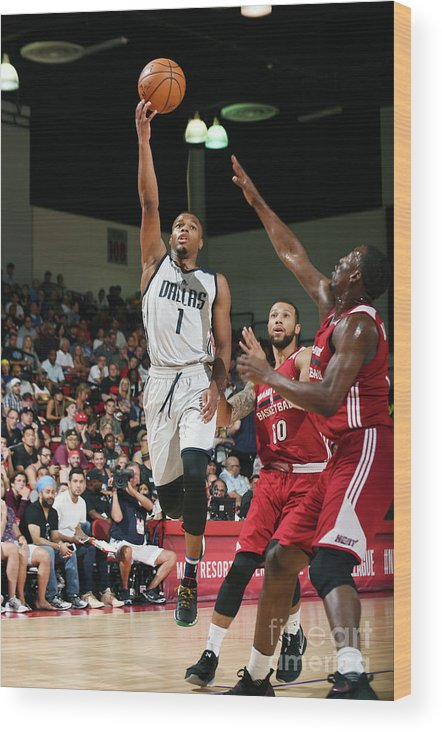 Nba Pro Basketball Wood Print featuring the photograph 2017 Las Vegas Summer League - Miami by Noah Graham