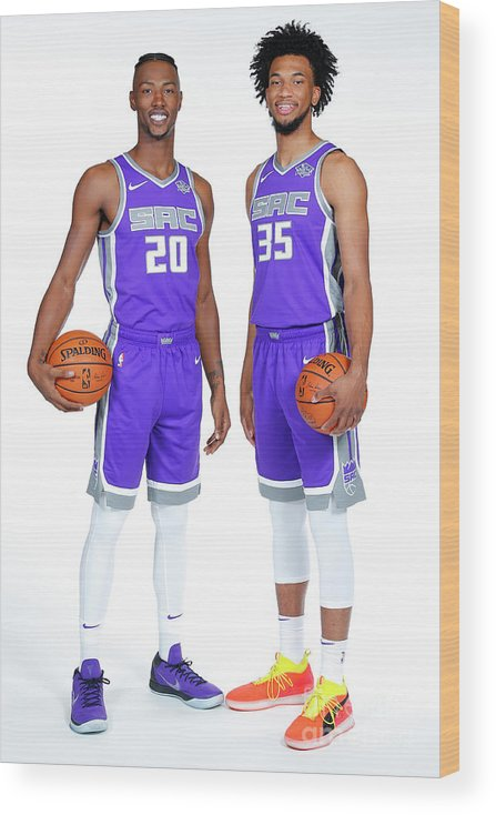 Media Day Wood Print featuring the photograph 2018-19 Sacramento Kings Media Day by Rocky Widner
