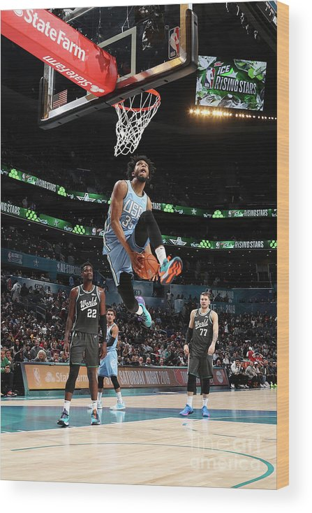 Nba Pro Basketball Wood Print featuring the photograph 2019 Mtn Dew Ice Rising Stars by Nathaniel S. Butler