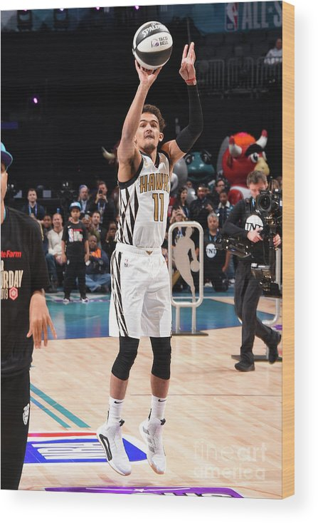 Nba Pro Basketball Wood Print featuring the photograph 2019 Taco Bell Skills Challenge by Andrew D. Bernstein