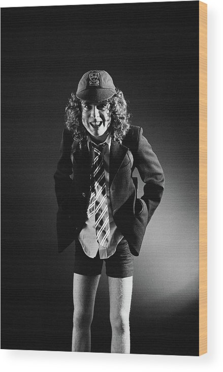Guitarist Wood Print featuring the photograph Acdc In London by Fin Costello