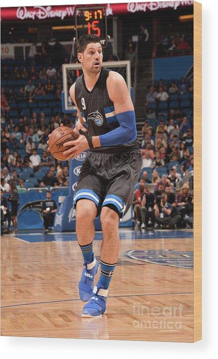 Nba Pro Basketball Wood Print featuring the photograph Atlanta Hawks V Orlando Magic by Gary Bassing