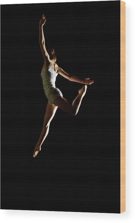 Ballet Dancer Wood Print featuring the photograph Ballet And Contemporary Dancers by John Rensten