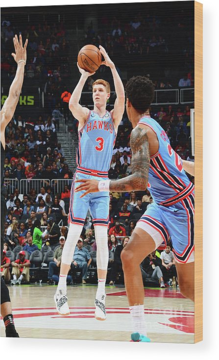 Atlanta Wood Print featuring the photograph Brooklyn Nets V Atlanta Hawks by Scott Cunningham