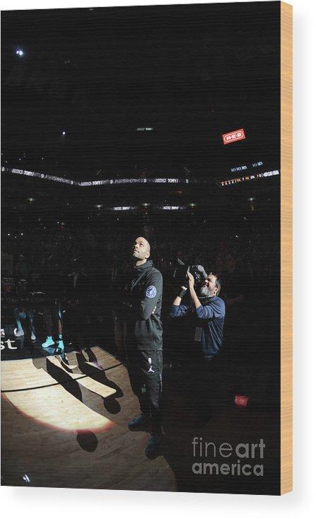 Nba Pro Basketball Wood Print featuring the photograph Charlotte Hornets V San Antonio Spurs by Mark Sobhani