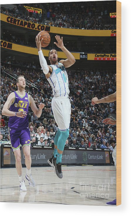 Nba Pro Basketball Wood Print featuring the photograph Charlotte Hornets V Utah Jazz by Melissa Majchrzak