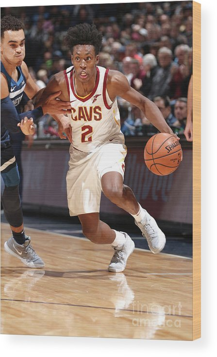Nba Pro Basketball Wood Print featuring the photograph Cleveland Cavaliers V Minnesota by David Sherman