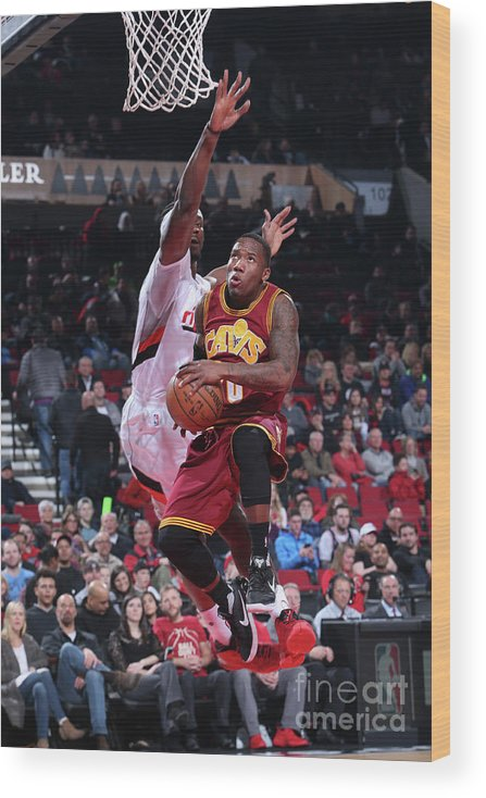 Nba Pro Basketball Wood Print featuring the photograph Cleveland Cavaliers V Portland Trail by Sam Forencich
