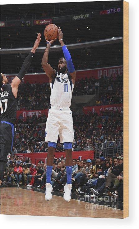 Tim Hardaway Jr. Wood Print featuring the photograph Dallas Mavericks V La Clippers by Adam Pantozzi