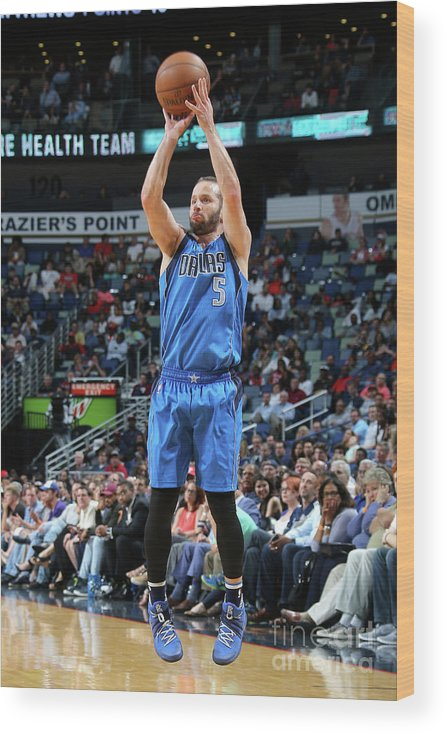 Smoothie King Center Wood Print featuring the photograph Dallas Mavericks V New Orleans Pelicans by Layne Murdoch Jr.