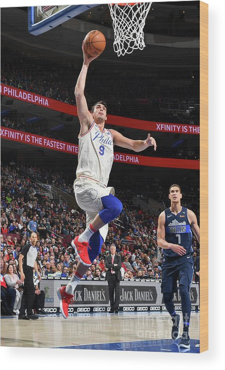 Sports Ball Wood Print featuring the photograph Dallas Mavericks V Philadelphia 76ers by Jesse D. Garrabrant