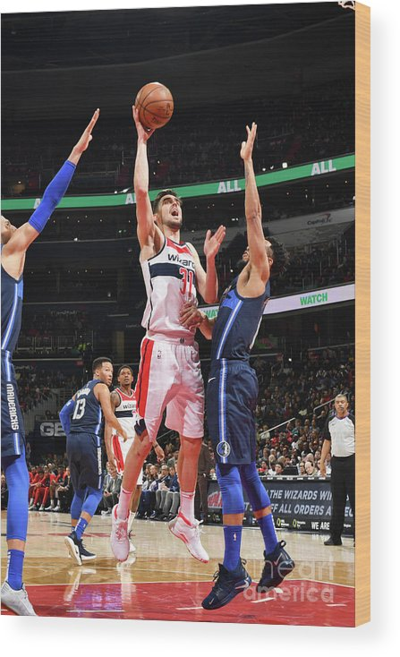 Nba Pro Basketball Wood Print featuring the photograph Dallas Mavericks V Washington Wizards by Jesse D. Garrabrant