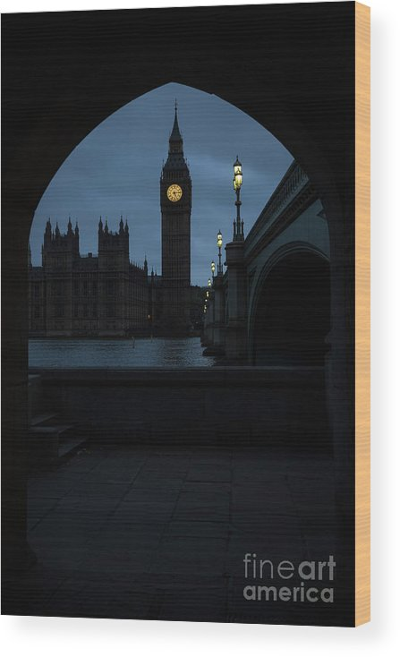Democracy Wood Print featuring the photograph General Election 2015 Week Six by Rob Stothard