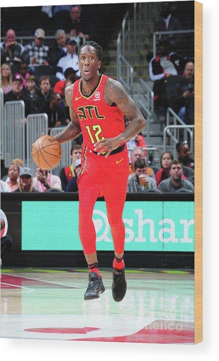 Atlanta Wood Print featuring the photograph Indiana Pacers V Atlanta Hawks by Scott Cunningham